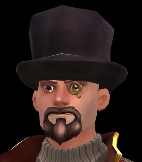 Elegancki kapelusz z monoklem
